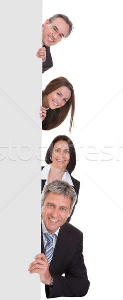 Gente de negocios cartel feliz blanco hombre Foto stock © AndreyPopov