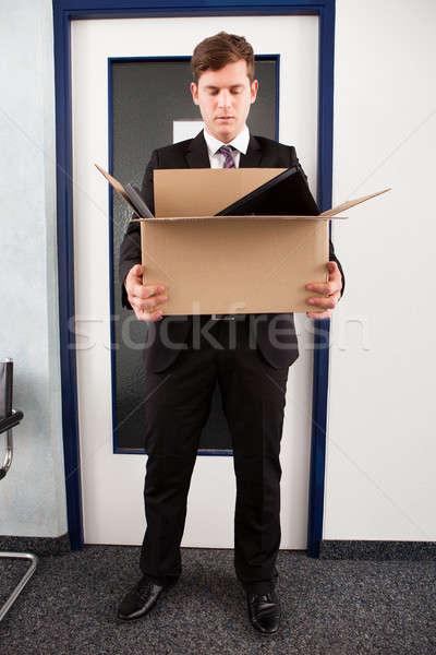 Man holding cardboard Stock photo © AndreyPopov