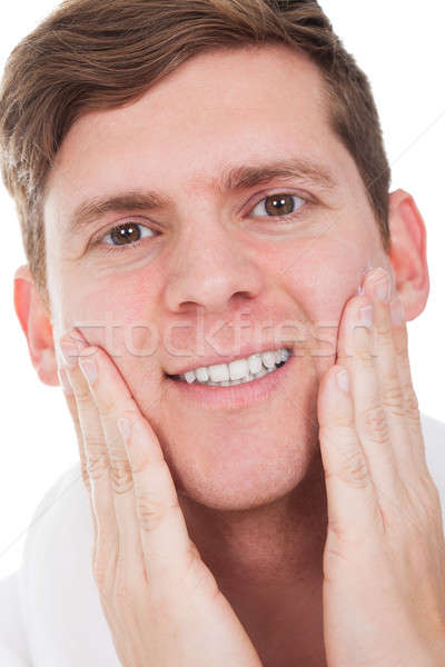 Close-up Of Man After Shaved Stock photo © AndreyPopov