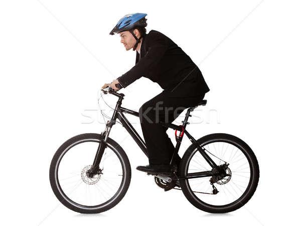 Affaires équitation vélo travaux costume Photo stock © AndreyPopov