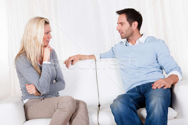 Couple have fallen out over a disagreement Stock photo © AndreyPopov