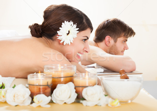 Couple Relaxing In Spa Stock photo © AndreyPopov