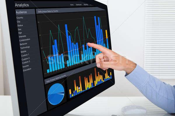Businessman Analyzing Graphs On Computer Stock photo © AndreyPopov