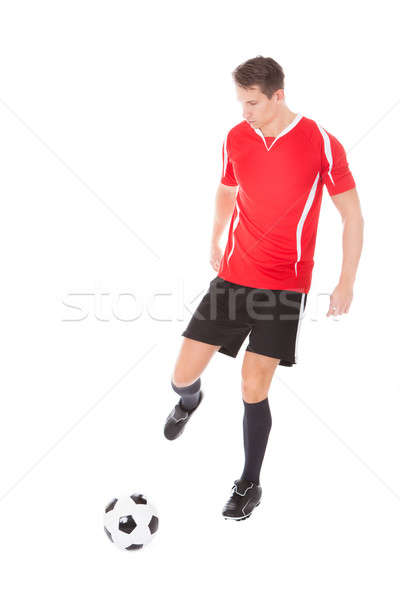 Jóvenes masculina futbolista fútbol retrato Foto stock © AndreyPopov