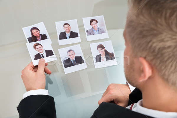 Businessman Choosing Candidate Stock photo © AndreyPopov