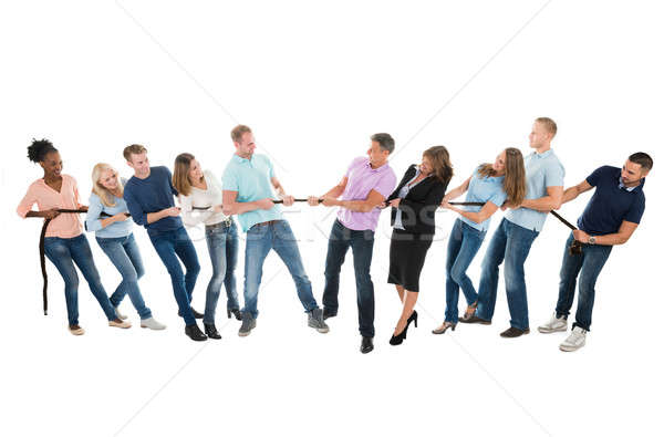 Creative Business Teams Playing Tug Of War Stock photo © AndreyPopov