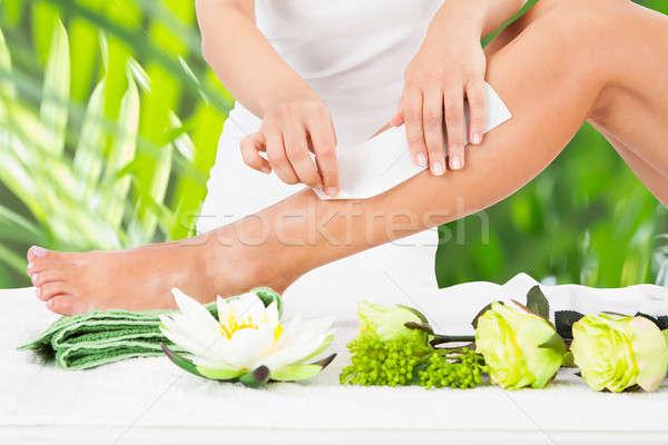 Ontharing been spa wax bloem Stockfoto © AndreyPopov