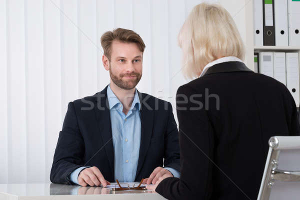 Two Businesspeople Having Conversation Stock photo © AndreyPopov