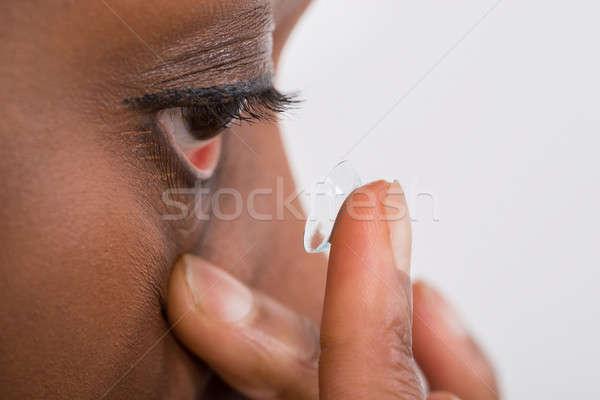 контактная линза молодые африканских Сток-фото © AndreyPopov