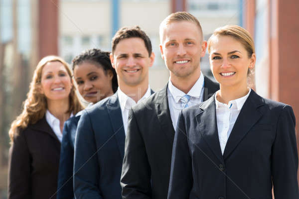 Team Of Businesspeople Standing In Queue Stock photo © AndreyPopov