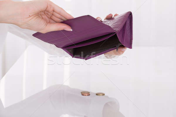 Close-up Of Woman Holding Empty Purse Stock photo © AndreyPopov