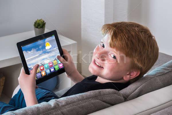 Digitale tablet veelkleurig app Stockfoto © AndreyPopov