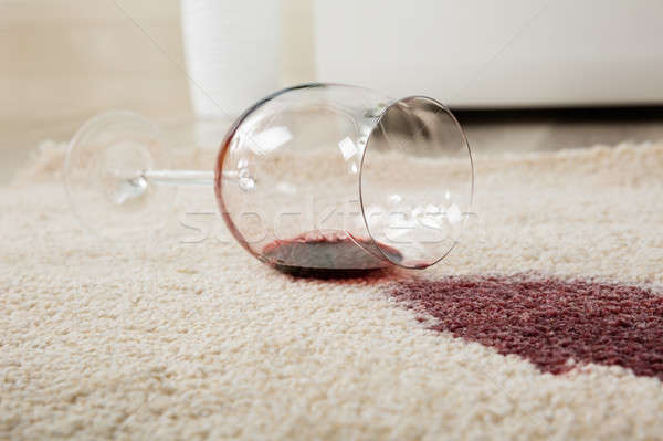 Red Wine Spilled From Glass On Carpet Stock photo © AndreyPopov