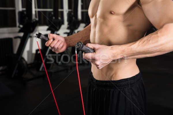 Man Holding Skipping Rope Stock photo © AndreyPopov