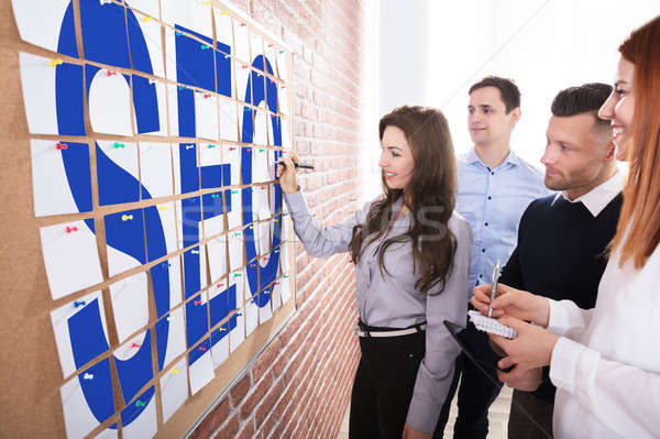 Business People Planning SEO Concept Stock photo © AndreyPopov