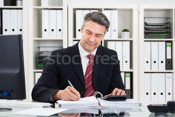 Ragioniere lavoro ufficio ritratto maturo business Foto d'archivio © AndreyPopov