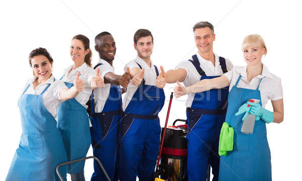 Portrait Of Janitors Gesturing Thumbs Up Stock photo © AndreyPopov