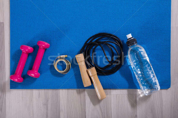 Elevated View Of Fitness Equipments Stock photo © AndreyPopov
