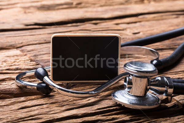 Close-up Of Blank Slate And Stethoscope Stock photo © AndreyPopov