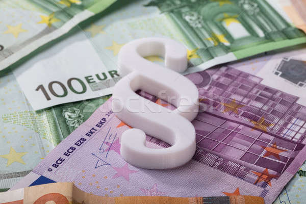 Paragraph Symbol On Euro Banknotes Stock photo © AndreyPopov