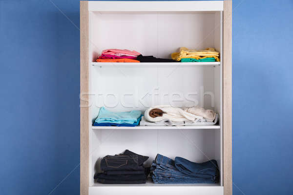 Close-up Of Various Clothes On Shelf Stock photo © AndreyPopov