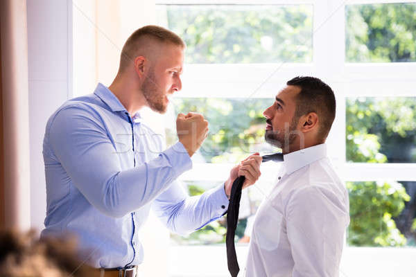 Angry Businessman Fighting With His Coworker Stock photo © AndreyPopov