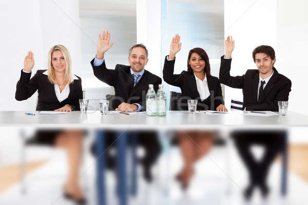 Gente de negocios reunión grupo negocios mano Foto stock © AndreyPopov