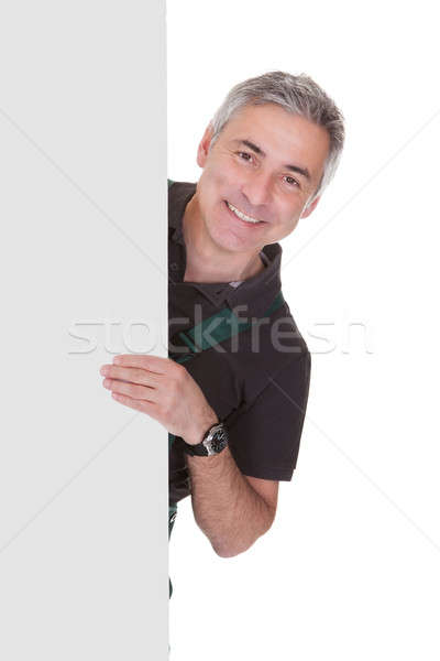 Mature Male Gardner Holding Placard Stock photo © AndreyPopov