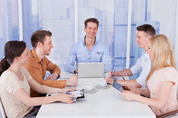 Business People Having Discussion At Conference Table Stock photo © AndreyPopov