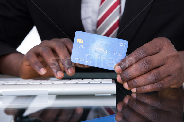 Businessperson Holding Credit Card Stock photo © AndreyPopov