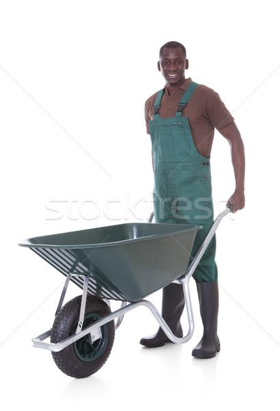 Male Gardener With Wheelbarrow Stock photo © AndreyPopov
