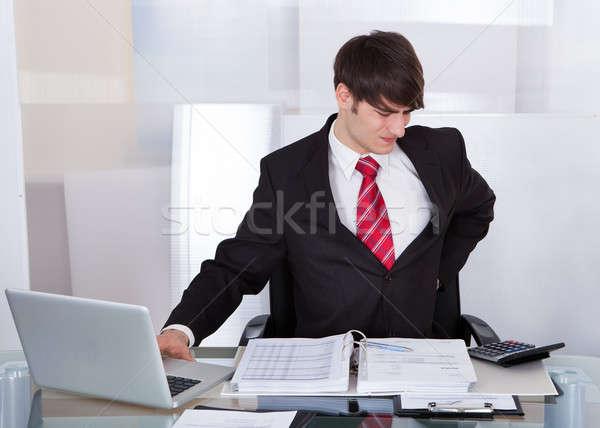 ビジネスマン 腰痛 デスク 小さな オフィス ストックフォト © AndreyPopov