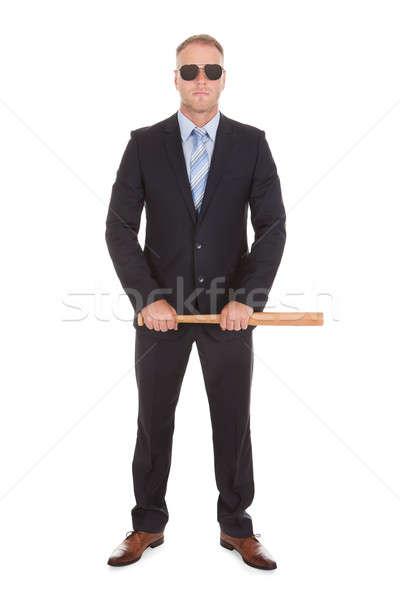 Empresario bate de béisbol retrato adulto Foto stock © AndreyPopov