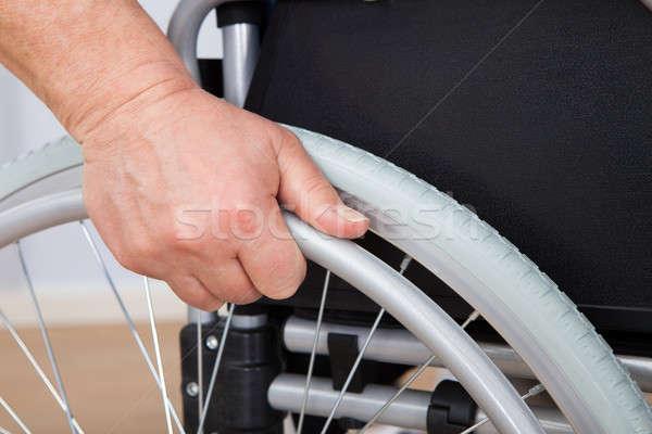 Senior Man In Wheelchair Stock photo © AndreyPopov