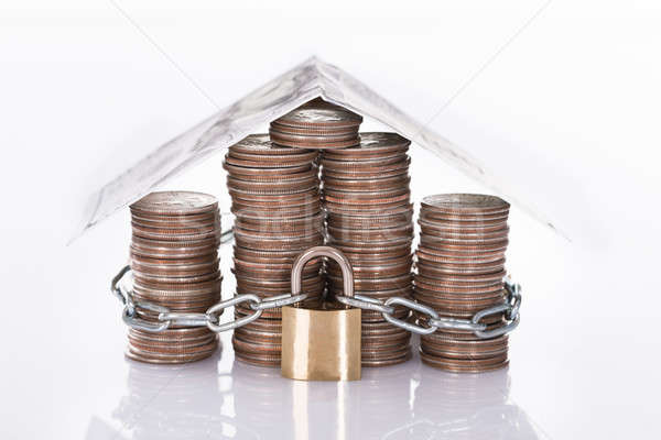 House secured with lock Stock photo © AndreyPopov