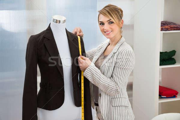 Fashion Designer Measuring Suit Stock photo © AndreyPopov