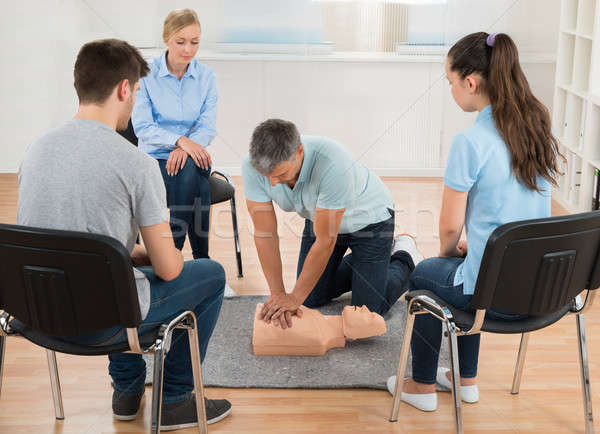 Instructor Teaching First Aid Cpr Technique Stock photo © AndreyPopov