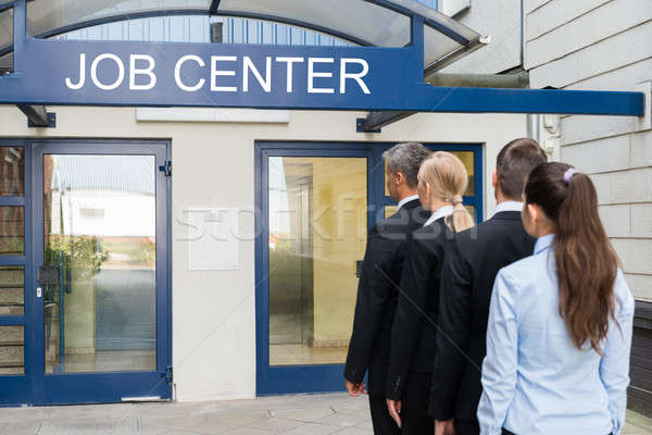 Businesspeople Outside The Job Center Stock photo © AndreyPopov