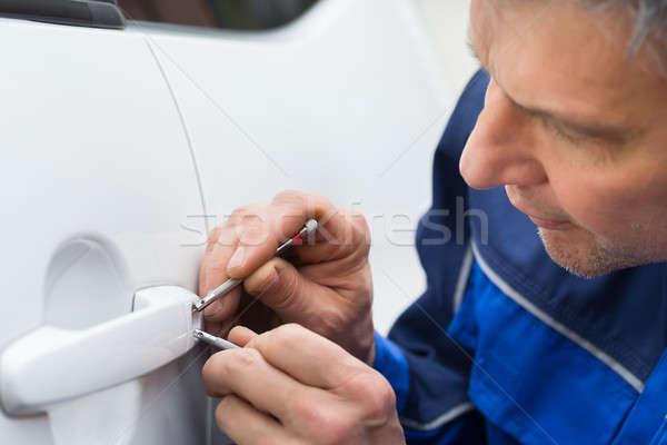 Strony otwarte samochodu drzwi Zdjęcia stock © AndreyPopov
