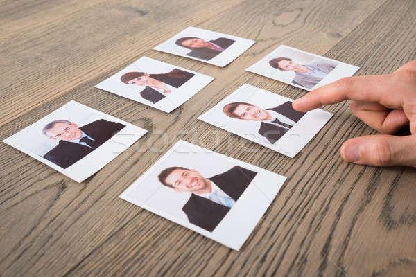 Biznesmen biurko biuro strony Zdjęcia stock © AndreyPopov