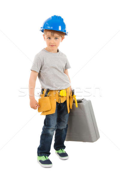 Portrait Of Boy Holding Toolbox Stock photo © AndreyPopov