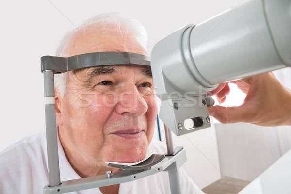 человека зрение клинике старший улыбка Сток-фото © AndreyPopov