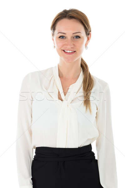 Portrait Of Happy Young Hostess Stock photo © AndreyPopov