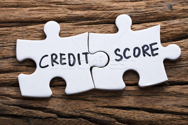 Closeup Of Connected Credit Score Jigsaw Pieces Stock photo © AndreyPopov