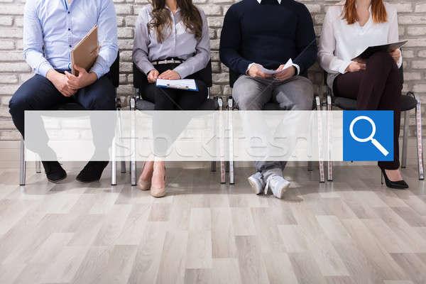Zoekmachine aanvrager wachten interview mannelijke vrouwelijke Stockfoto © AndreyPopov