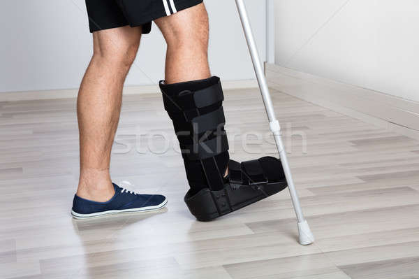 Low Section View Of An Injured Person's Leg Stock photo © AndreyPopov