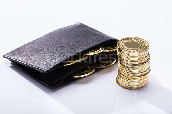 бумажник монетами белый бизнеса деньги Сток-фото © AndreyPopov