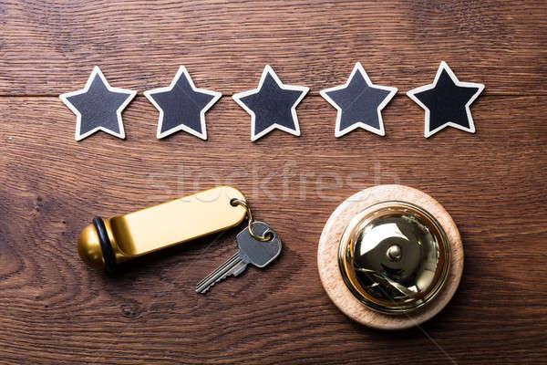 Foto stock: Cinco · estrelas · serviço · sino · hotel · chave