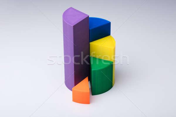3D 円グラフ 写真 白 ビジネス 背景 ストックフォト © AndreyPopov