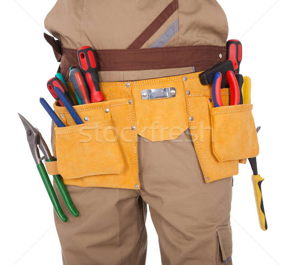 Close-up on worker's toolbelt Stock photo © AndreyPopov